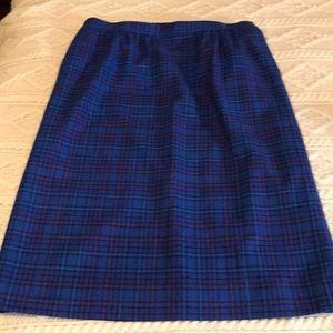 Vintage Pendleton bright Blue plaid skirt Sz 18